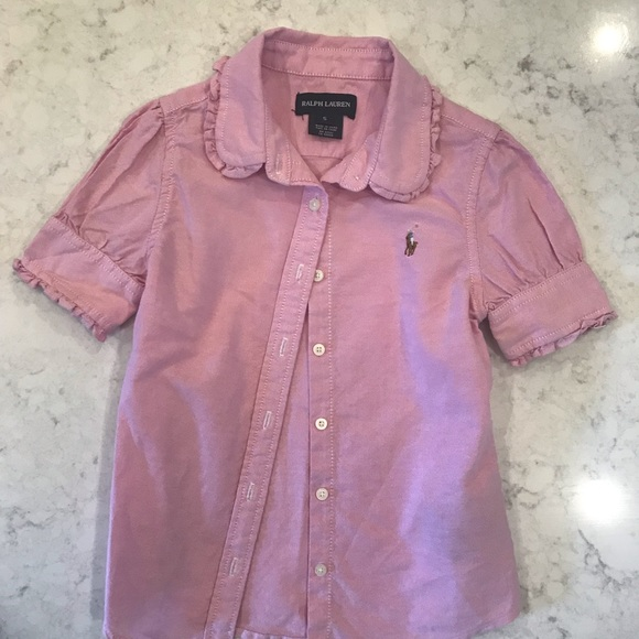 Ralph Lauren Other - Ralph Lauren Pink button up collard shirt- size 5